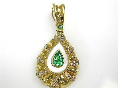 71783-July/Emerald Pendant CFA1306176