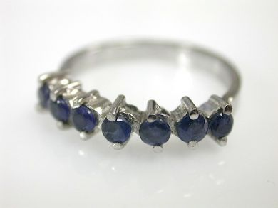 Vintage 7 Sapphire Ring