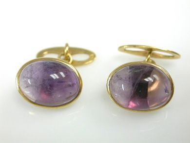 71840-July/Cabochon Amethyst Cufflinks CFA1306316