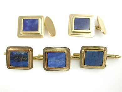 71906-July/Lapis Cufflink Set CFA130722