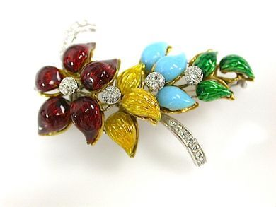 71976-July/Enamel Flower Brooch CFA130790