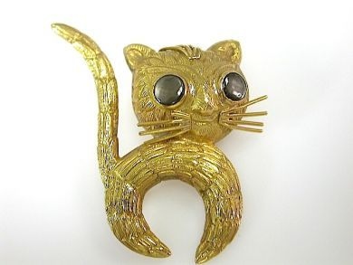 71976-July/Textured Cat Brooch CFA130791