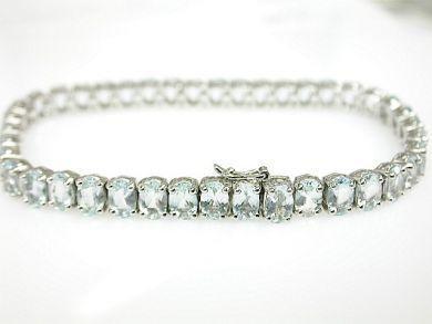 71989-July/Aquamarine Tennis Bracelet CFA1307116