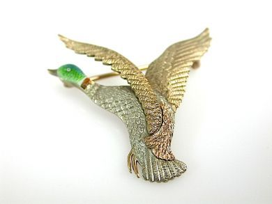 Duck Brooch