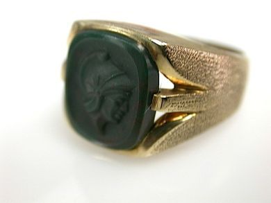 72004-July/Bloodstone Cameo Ring CFA1307132