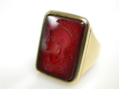 72004-July/Carnelian Intaglio Ring CFA1307118