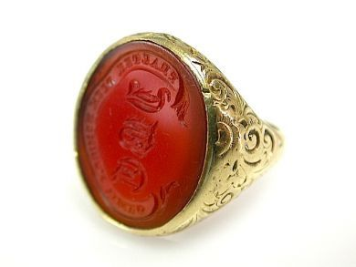 72004-July/Carnelian Intaglio Ring CFA1307133