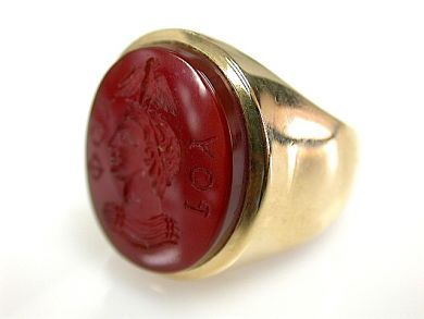 72004-July/Carved Carnelian Ring CFA1307145