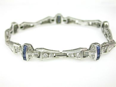 73044-October/Art Deco Diamond Bracelet CFA130804