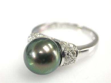 73100-September/Black Pearl Ring CFA1308141