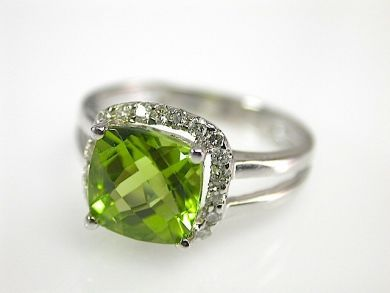 73100-September/Peridot Halo Ring CFA1308150