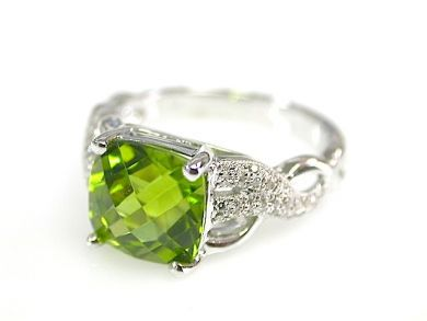 73100-September/Peridot and Diamond Ring CFA1308146