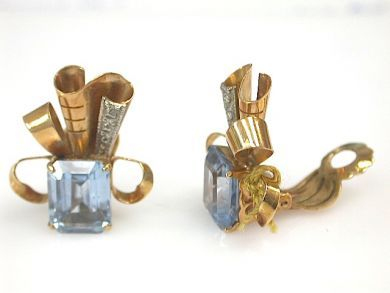 73156-September/Retro Topaz Earrings