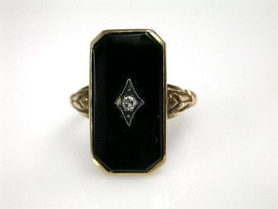 73156-catching up/Antique Onyx Ring CFA1208208