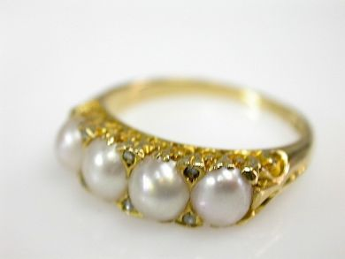 73156-catching up/Victorian Pearl Ring CFA1308248