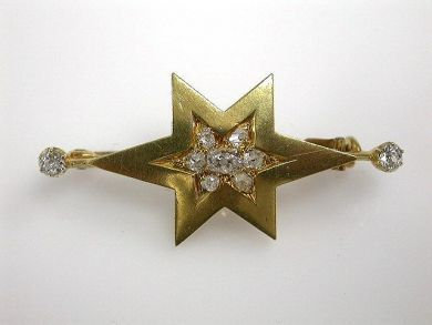 73156-catching up/Victorian Star Brooch CFA1208236