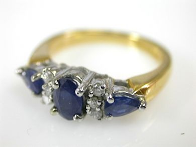 73276-September/Sapphire and Diamond Ring CFA1309295