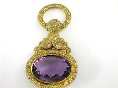 73362-October/Amethyst Fob CFA130802