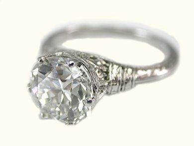 73362-October/Art Deco-Diamond Solitaire Ring CFA1309320 73363aa