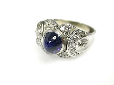 73362-October/Cabochon Sapphire Ring CFA1307236