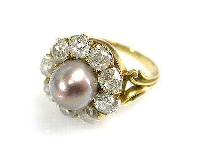 73362-October/Pearl Cluster Ring CFA1306161