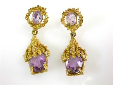 73412-Sapphire/Amethyst Drop Earrings CFA131075
