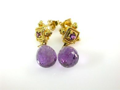 73412-Sapphire/Amethyst Earrings CFA131074