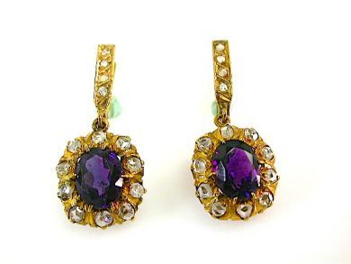 73412-Sapphire/Amethyst Earrings CFA131077