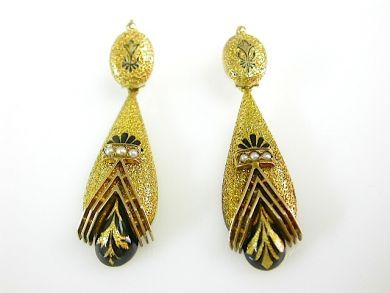 73412-Sapphire/Victorian Earrings CFA131068