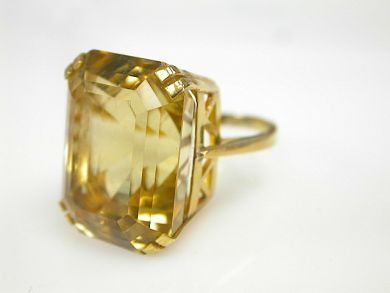 73509-October/Citrine Cocktail Ring CFA1310140