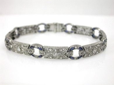 A69702-June/Art Deco Diamond Bracelet CFA1212146