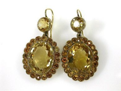 A69702-June/Citrine Earrings CFA1211423