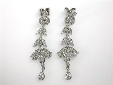 A69702-June/Diamond Drop Earrings CFA121212