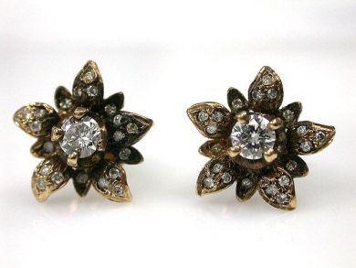 A69702-June/Diamond Floral Studs CFA1211425