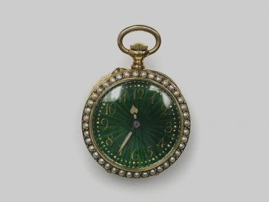 A69702-June/Enamel Pocket Watch CFA1212245