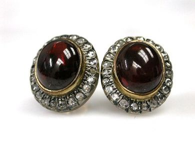 A69702-June/Garnet Earrings CFA121225C