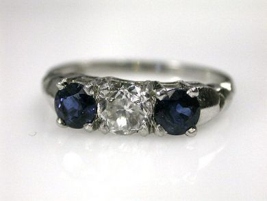 A69702-June/Sapphire and Diamond Ring CFA1210219