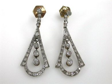 A69702-June/Vintage Diamond Earrings CFA121219