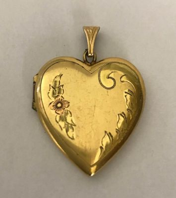 A Heart Shape Gold Filled Double Picture Locket b
