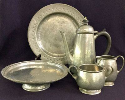 A Selection of Tudric Pewter in The Art   Crafts Style 3