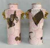Aesthetic Movement Royal Worcester Cabinet Vases, circa 1880