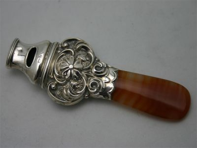 Agate Baby Whistle 1 Cynthia Findlay Antiques
