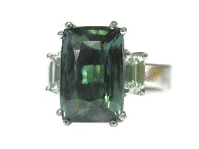 Vintage Alexandrite and Diamond Ring