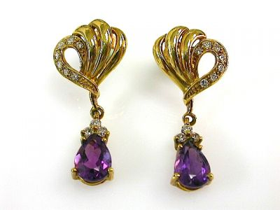 Amethyst Earrings CFA131080