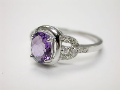 Amethyst Halo Ring CFA1406165