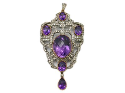 Amethyst Jewellery/Antique-Style Amethyst Pendant 1 Cynthia Findlay Antiques
