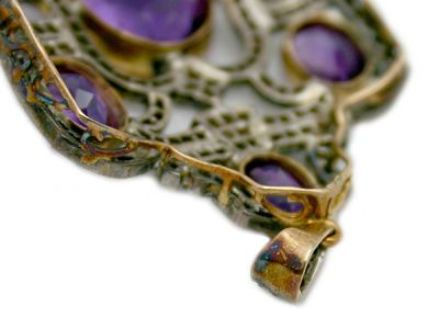 Amethyst Jewellery/Antique-Style Amethyst Pendant 3