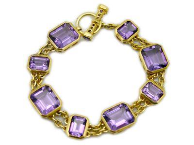 Amethyst Jewellery/Classic Amethyst Bracelet 1 Cynthia Findlay Antiques