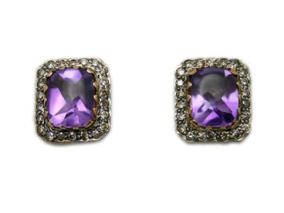 Amethyst Jewellery/Fabulous Amethyst Studs 1 Cynthia Findlay Antiques