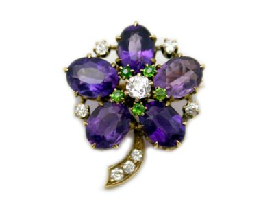 Amethyst Jewellery/Gorgeous Antique Amethyst Brooch 1 Cynthia Findlay Antiques